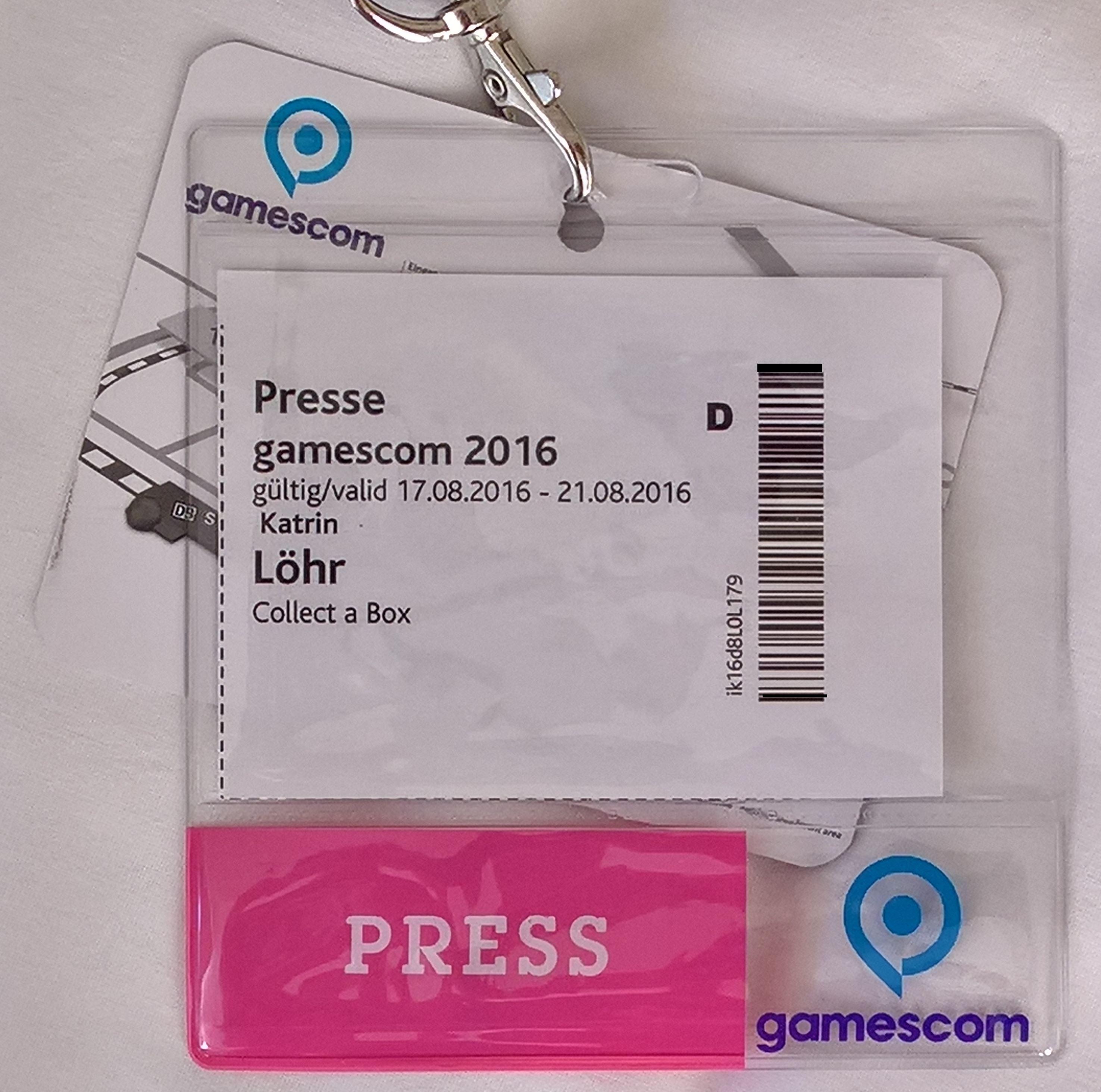 Lanyard Gamescom 2016