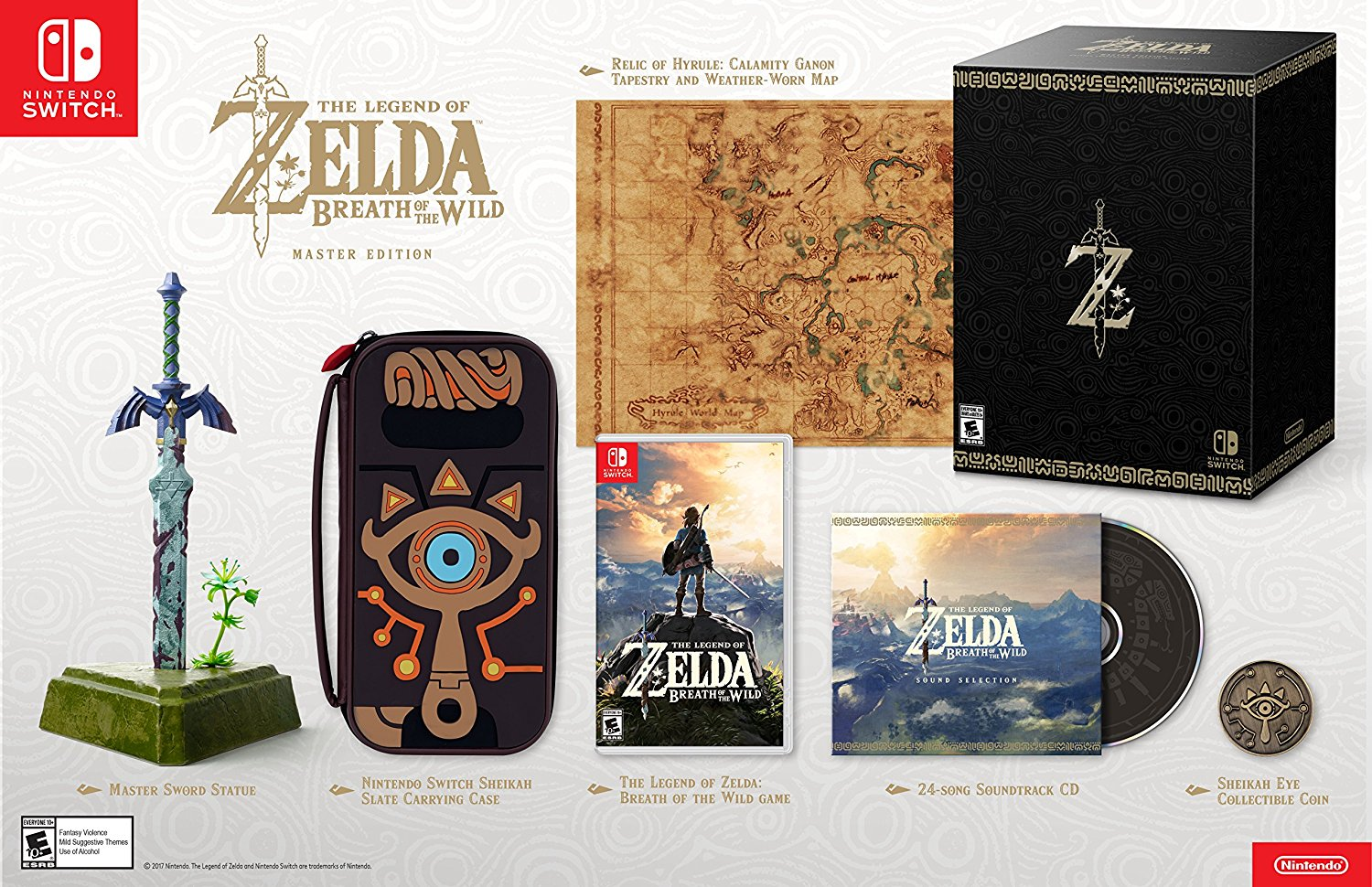 The Legend of Zelda Breath of the Wild Master Edition US