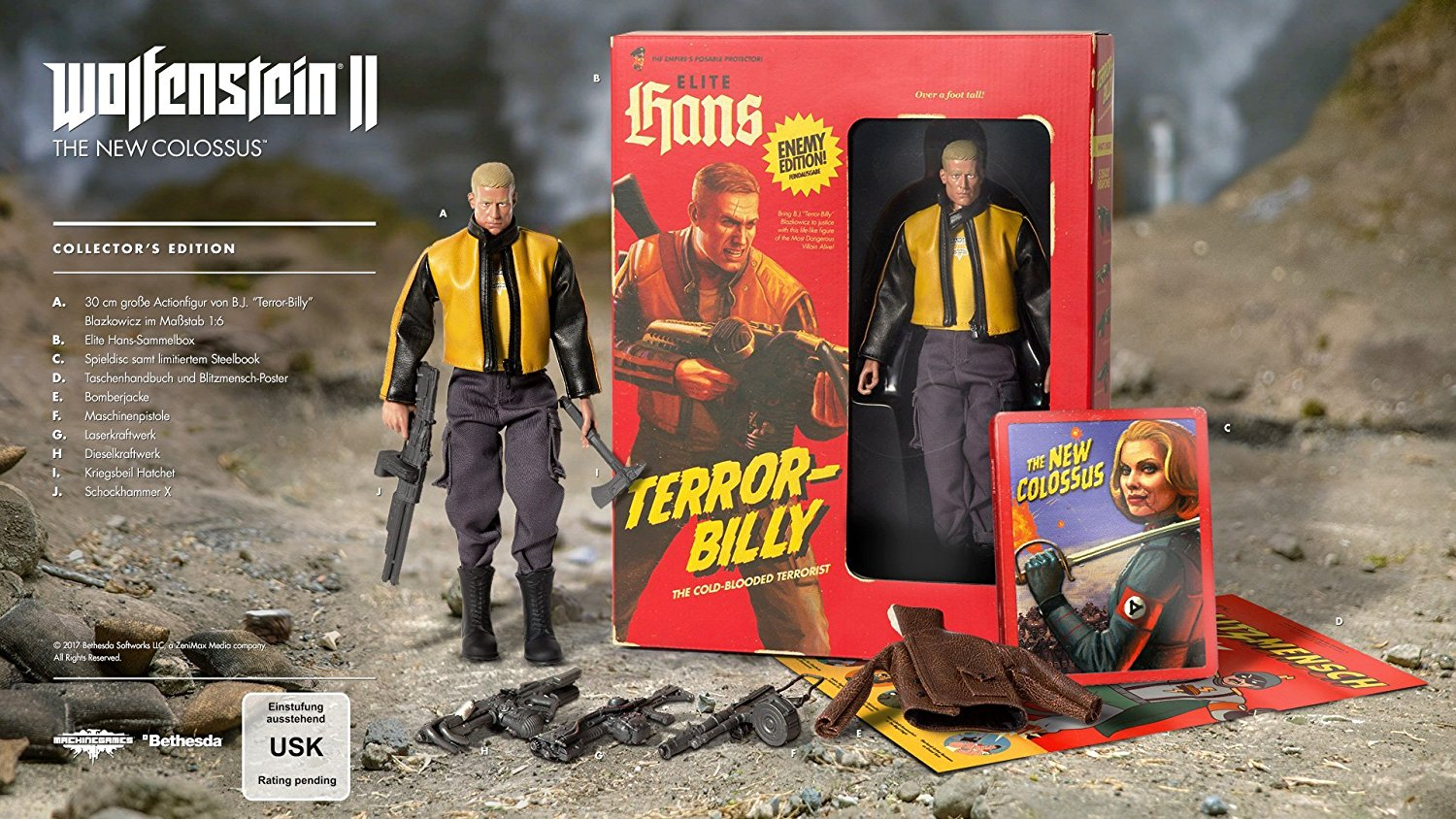 Wolfenstein II The New Colossus Collector's Edition