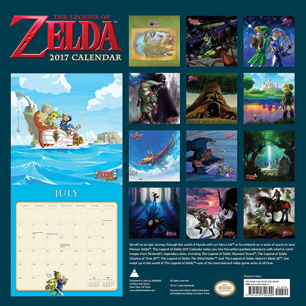 The Legend of Zelda Kalender 2017