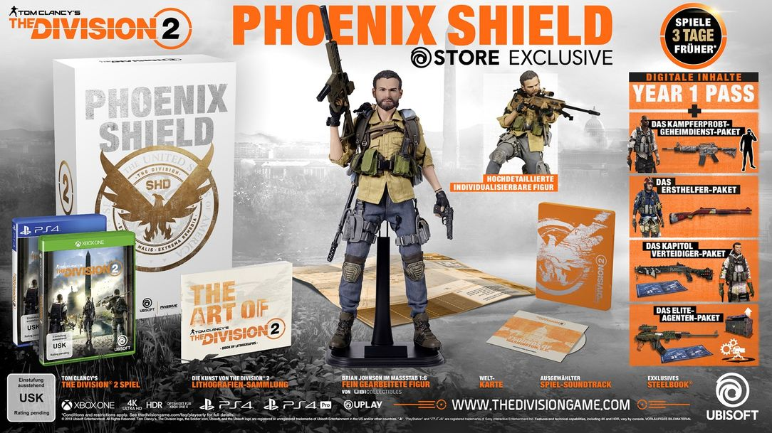 Tom Clancy's The Division 2 Phoenix Shield Collector's Edition