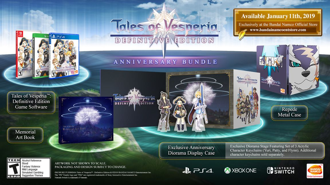 Tales of Vesperia Definitive Edition Anniversary Bundle