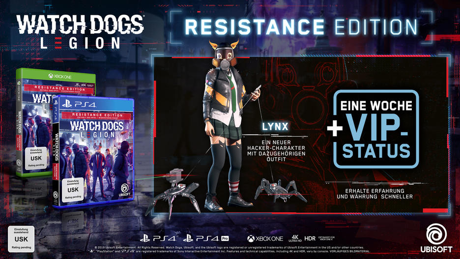 Watch Dogs Legion Resistance Edition Deutsch