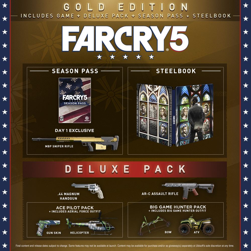 Far Cry 5 Steelbook Gold Edition