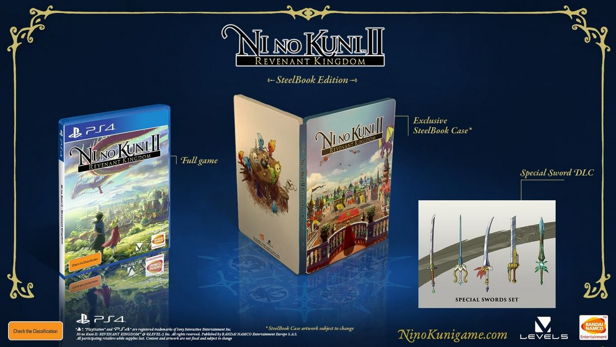 Ni No Kuni II Revenant Kingdom Steelbook Edition