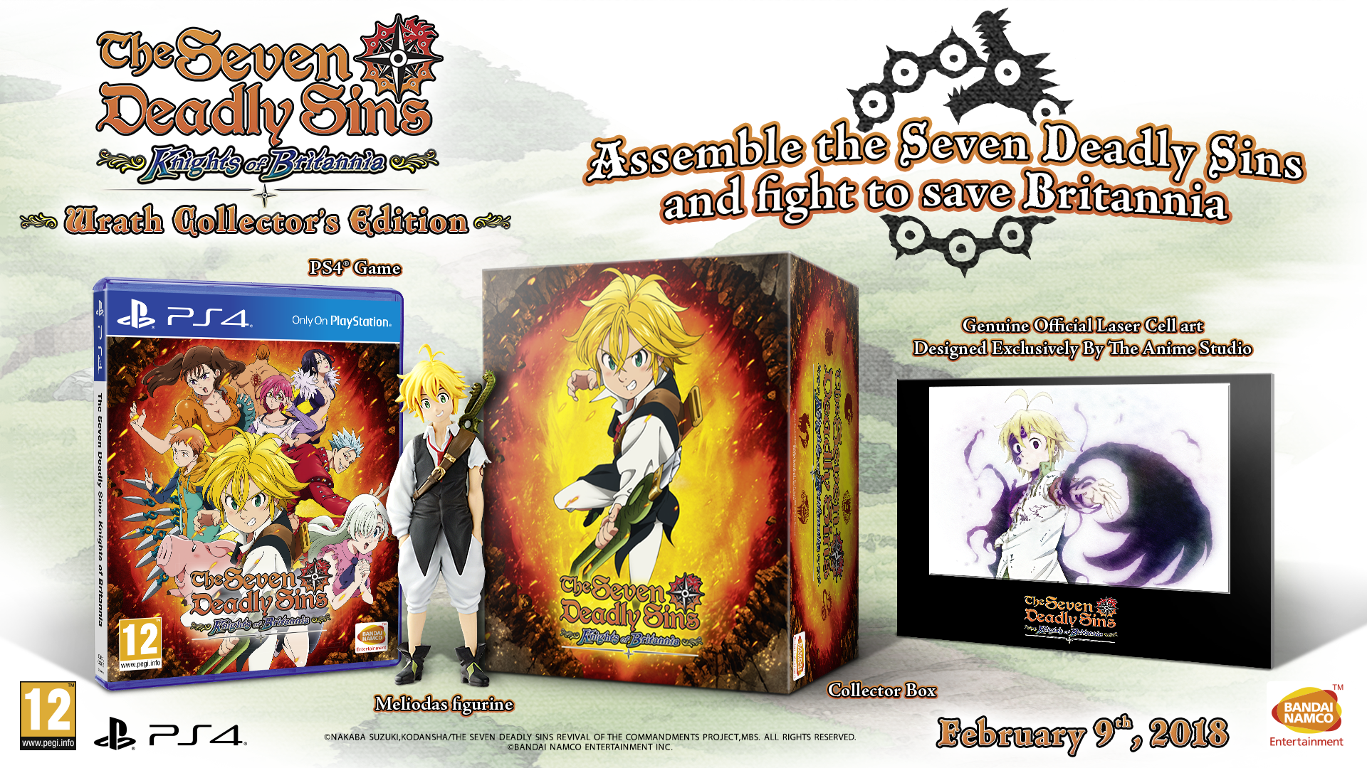The Seven Deadly Sins Knights of Britannia Wrath Collector's Edition