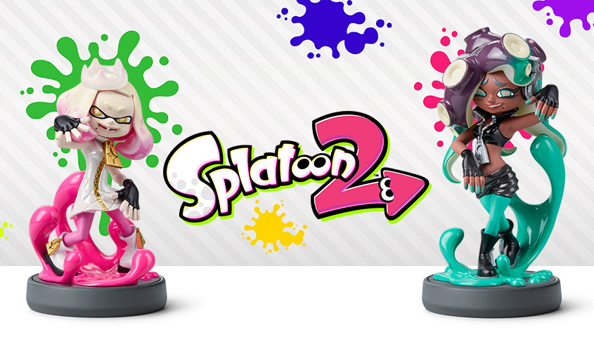 Splatoon 2 Pearl and Marina Amiibo