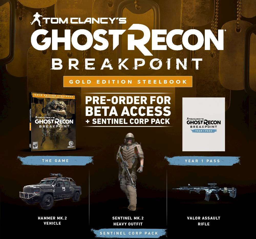 Tom Clancy's Ghost Recon Breakpoint Gold Steelbook Edition