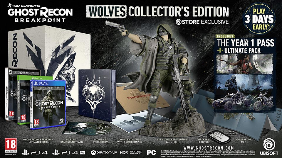 Tom Clancy's Ghost Recon Breakpoint Wolves Collector's Edition