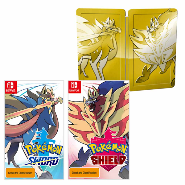 Pokemon Sword And Shield Dual Edition Comes With Shiny Steelbook