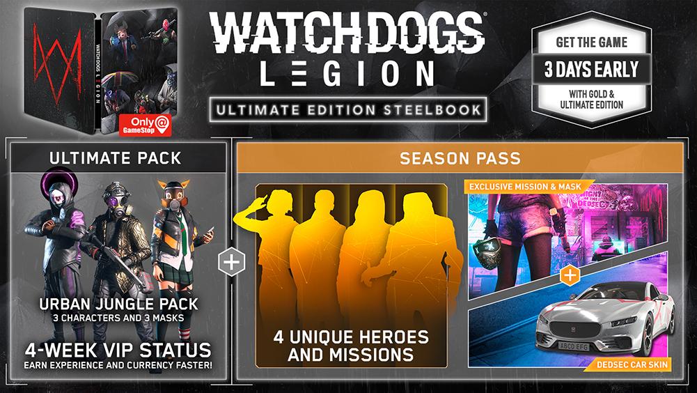 Watch Dogs Legion Ultimate Steelbook Edition