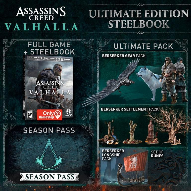 Assassin's Creed Valhalla Ultimate Steelbook Edition