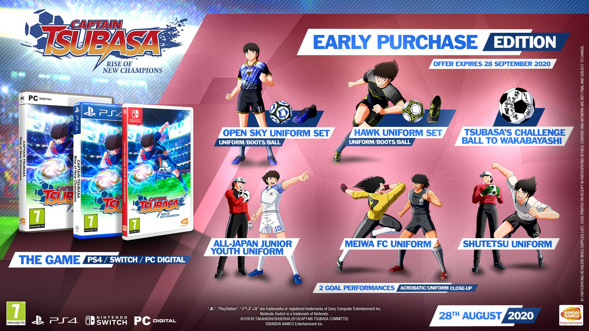 Captain Tsubasa Rise of New Champions Early Purchase Edition